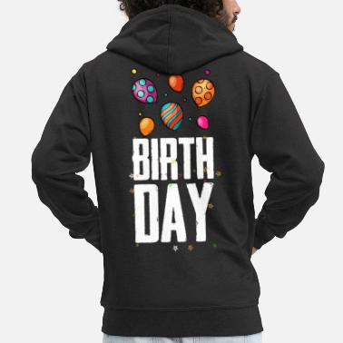 Tag Birthday Balloon T-Shirt - Men's Premium Zip Hoodie