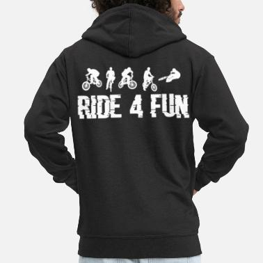 Motion Cycling for fun cyclist art gift - Men's Premium Zip Hoodie