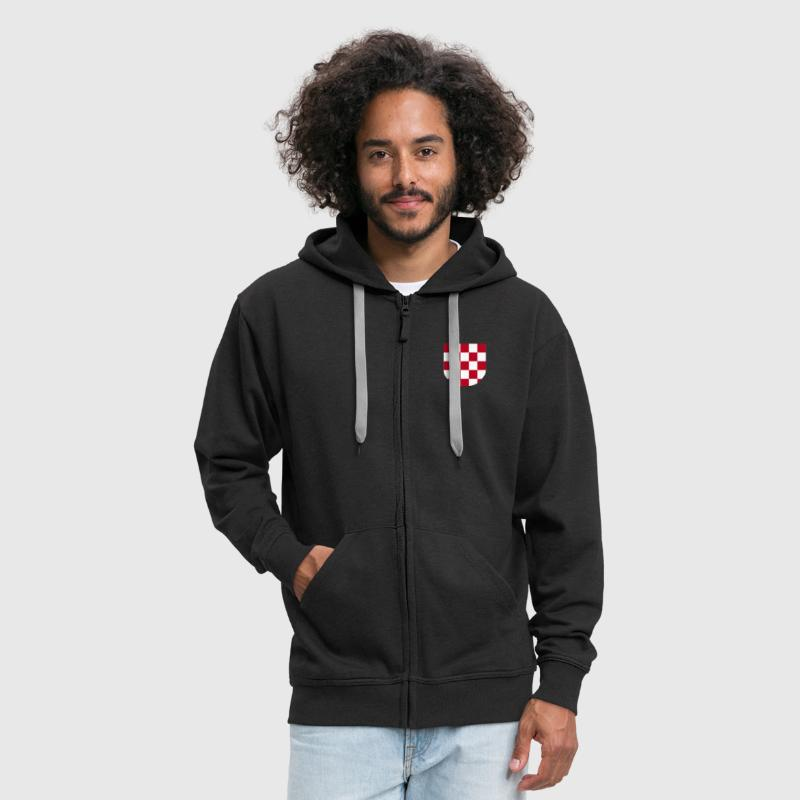 Croatia pleter SAMO na http://WWW.CROATIAN-TEAM.de - Men's Premium Hooded Jacket