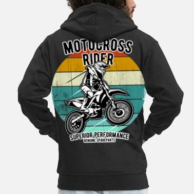 Moto Motocross Supercross Dirt Bike Braap - Veste à capuche premium Homme