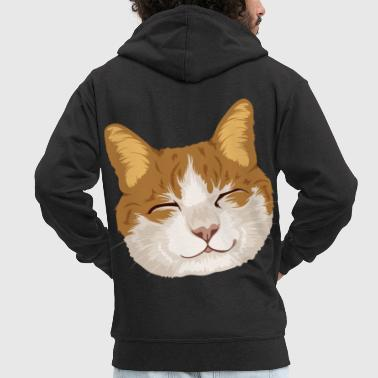 Souriant Chat souriant / Chat souriant - Veste à capuche Premium Homme