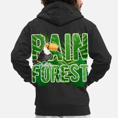 Nature Rainforest Earth Day Nature Conservation Nature Animals - Men's Premium Zip Hoodie