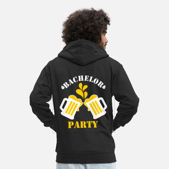 Bachelor Party Hoodies & Sweatshirts - Bachelor Party Bachelor Party - Men's Premium Zip Hoodie black