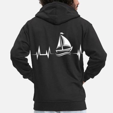Harbour sailing - Men's Premium Zip Hoodie