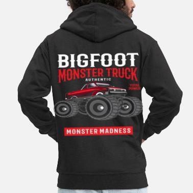 Usa Monster Truck, Offroad Truck Shirt Motorsport Race - Men's Premium Zip Hoodie