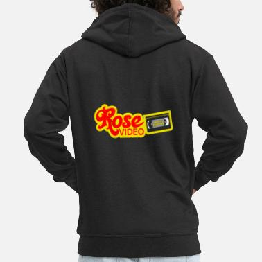 Dvd rose video logo - Men's Premium Zip Hoodie
