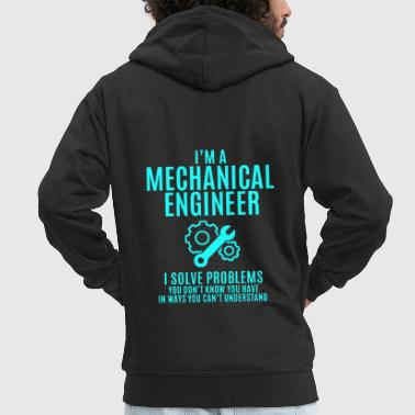 I'm a Mechanical Engineer Shirt - Men's Premium Hooded Jacket