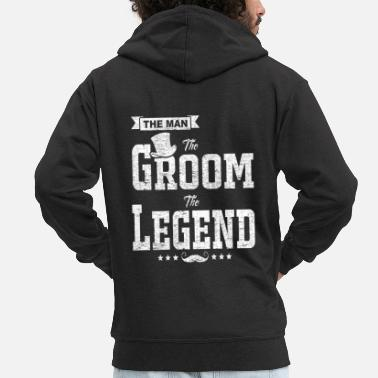 Gentleman The Man The Groom The Legend Funny Bachelor Gift - Men's Premium Zip Hoodie