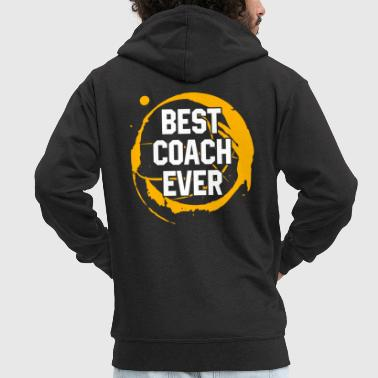 Basketball Sport Gift Best Coach Ever Birthday Gift Idea - Men's Premium Hooded Jacket