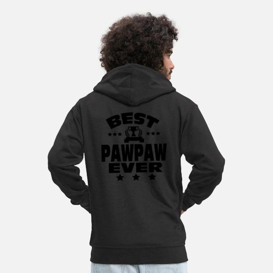 """best Pawpaw"" Hoodies & Sweatshirts - BEST PAWPAW EVER - Men's Premium Zip Hoodie black"