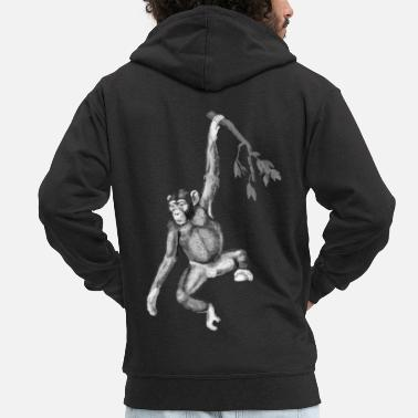 Monkeys monkey - Men's Premium Zip Hoodie