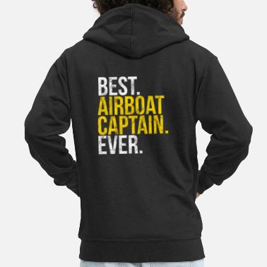 Airboat Captain Ever Gift Everglades Florida - Men's Premium Hooded Jacket