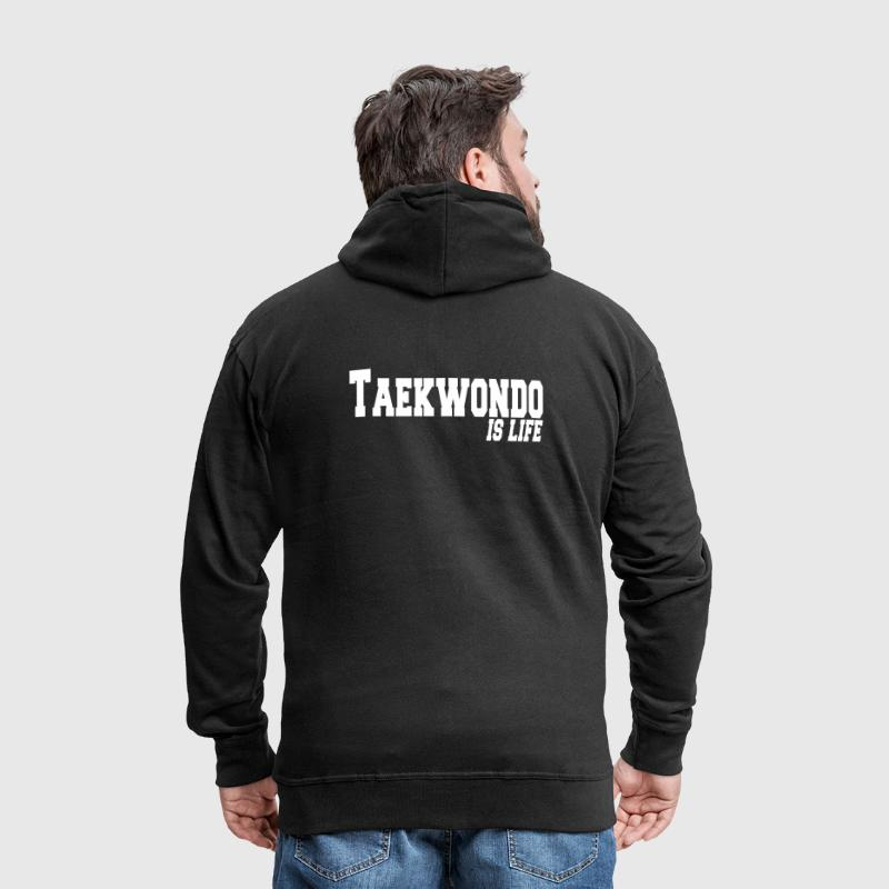 taekwondo is life - Men's Premium Hooded Jacket