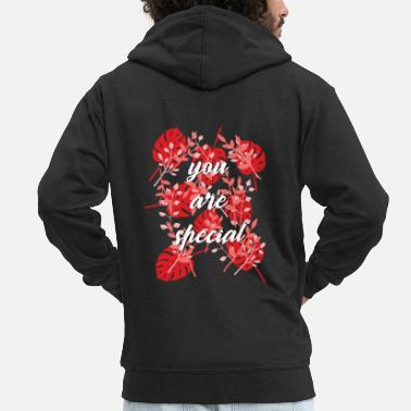 Heart love - Men's Premium Zip Hoodie