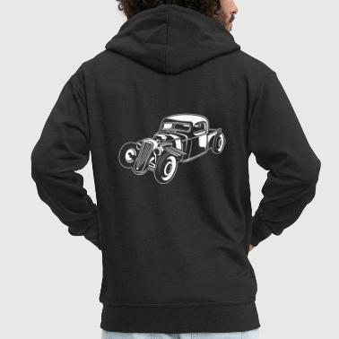 Hot Rod / Rat Rod 08_white - Men's Premium Hooded Jacket