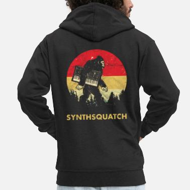 Synthesizer Bigfoot Synthesizer Analog - Sasquatch Synth Nerd - Männer Premium Kapuzenjacke