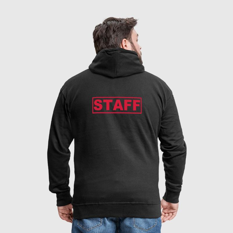 Staff - Collaboratore - Team - Felpa con zip Premium da uomo