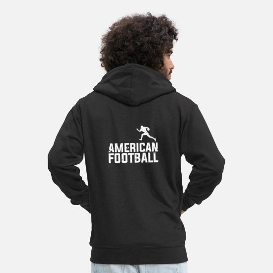 Football Sweat-shirts - Football américain - Veste à capuche premium Homme noir