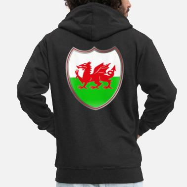 Coat Of Arms Wales (Coat of Arms) - Felpa con zip premium uomo