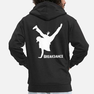 Breakdance Breakdance Freeze - Felpa con zip premium uomo