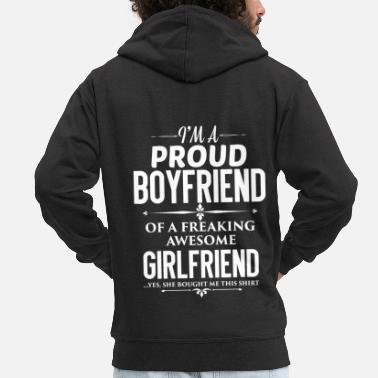 Girlfriend Boyfriend - Boyfriend - Gift - Men's Premium Hooded Jacket