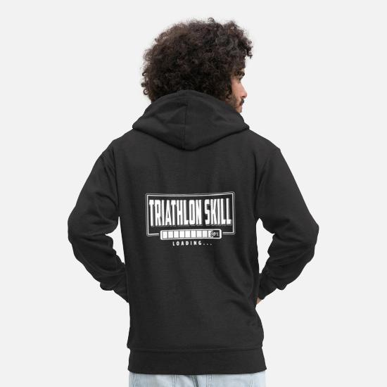 Triathlet Pullover & Hoodies - Triathletes Swim Bike Run Triathlon Shirt Geschenk - Männer Premium Kapuzenjacke Schwarz