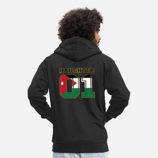 Love Hoodies & Sweatshirts - Daughter 01 daughter queen Jordan - Men's Premium Zip Hoodie black