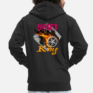 Drifting Drift King - Men's Premium Hooded Jacket