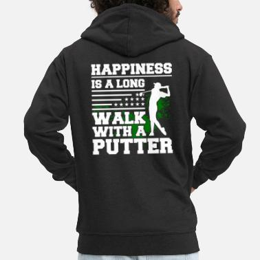 Golf Shirt Happiness Is Long Walk Avec Putter - Veste à capuche premium Homme