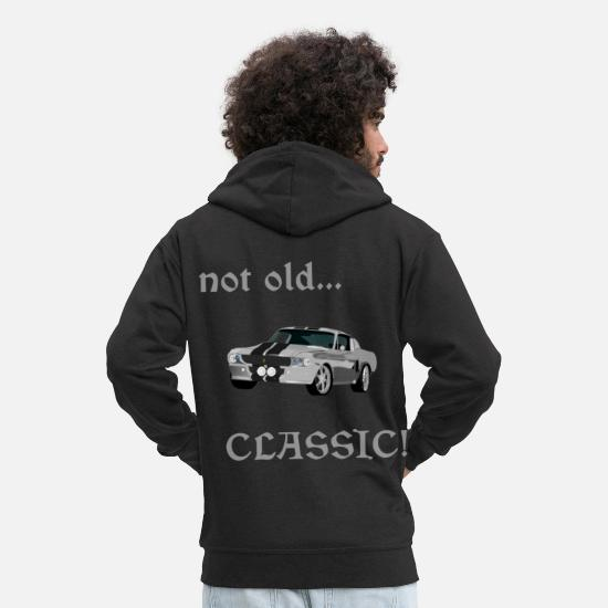 V8 Hoodies & Sweatshirts - Muscle car - Men's Premium Zip Hoodie black