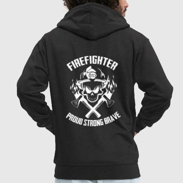 Firefighter Tshirt-Brave - Men's Premium Hooded Jacket