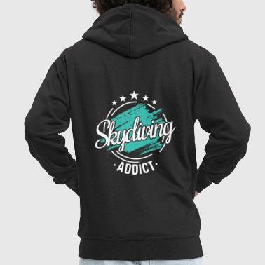 Funny Cool Skydiver Skydive Saying Gift Pun - Men's Premium Hooded Jacket