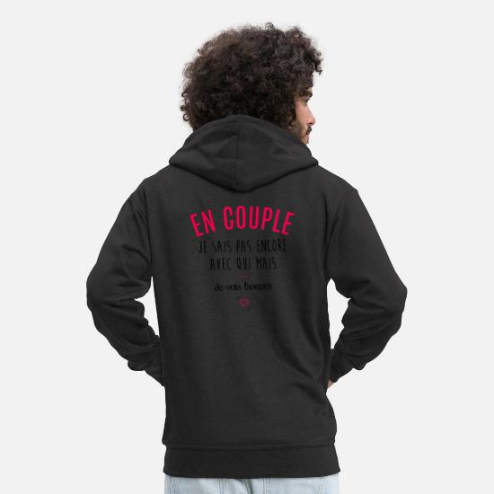 Couple Sweat-shirts - En couple, mais... - Veste à capuche premium Homme noir