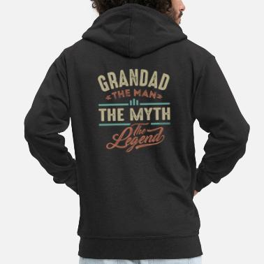 Grandad Grandad The man The Myth - Men's Premium Zip Hoodie