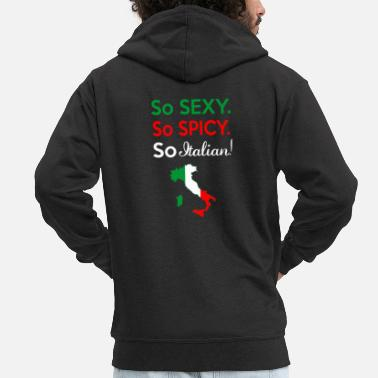 Christmas So sexy. So spicy. So italian! - Men's Premium Zip Hoodie