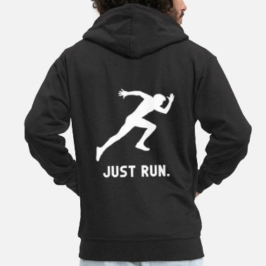 Sprinting Just Run Athlete Sprint Run - Men's Premium Zip Hoodie