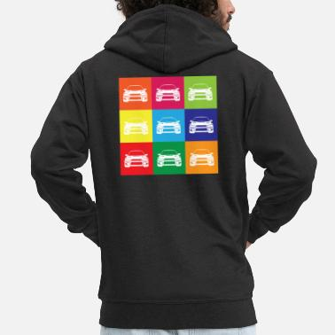 Multi Coloured Multi Colour Impreza - Men's Premium Zip Hoodie