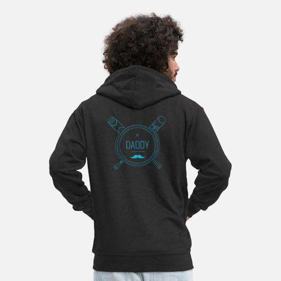 Gift Idea Hoodies & Sweatshirts - Baseball Dad Gift Father Gift Idea Father's Day - Men's Premium Zip Hoodie black