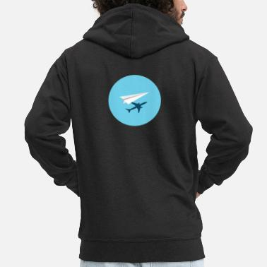 Paper Planes Paper plane, plane, vacation - Men's Premium Hooded Jacket