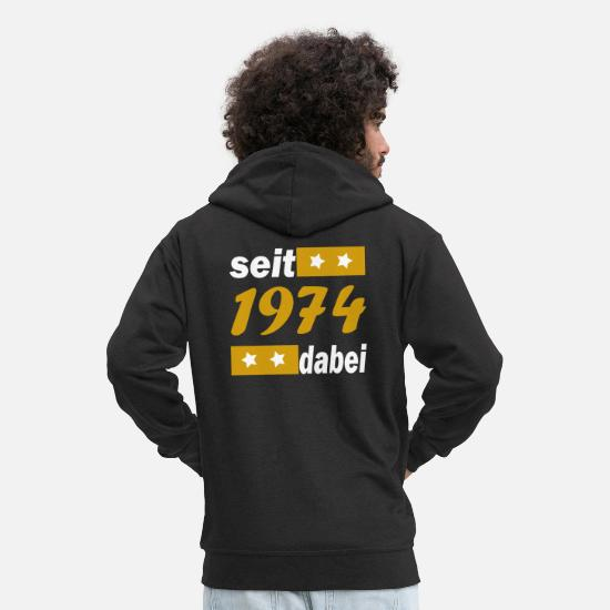 Birthday Hoodies & Sweatshirts - since 1974 / year74 - Men's Premium Zip Hoodie black