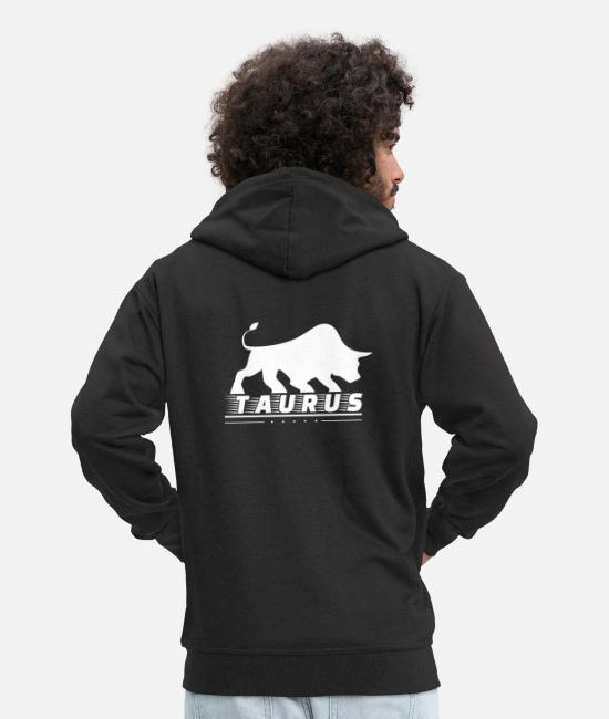 Bullfighting Hoodies & Sweatshirts - Taurus bull bull - Men's Premium Zip Hoodie black
