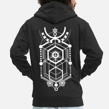 Cyberpunk Cyberpunk Abstraction - Men's Premium Hooded Jacket