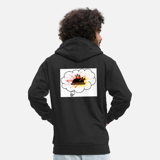 Key Hoodies & Sweatshirts - Turkey explosion - Men's Premium Zip Hoodie black