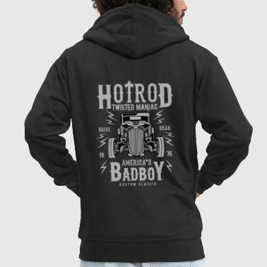 Twisted Hotrod Americas's Bad Boy - Men's Premium Hooded Jacket