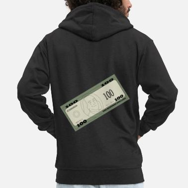 Sign Money dollars - Men's Premium Zip Hoodie
