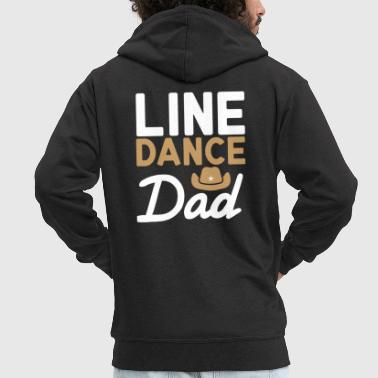 Linedancing Line Dance Dad Linedancing Daddy Gift - Men's Premium Hooded Jacket
