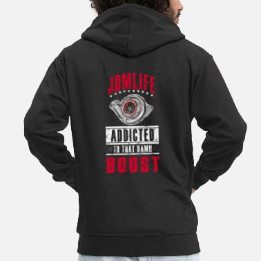 Jdm JDM LIFE - BOOST ADDICTED - Men's Premium Hooded Jacket