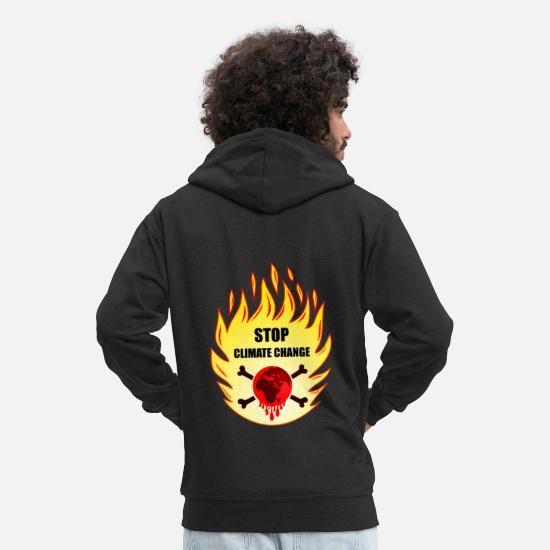 Protection Of The Environment Hoodies & Sweatshirts - stop climate change, stop co2, climate change, earth - Men's Premium Zip Hoodie black