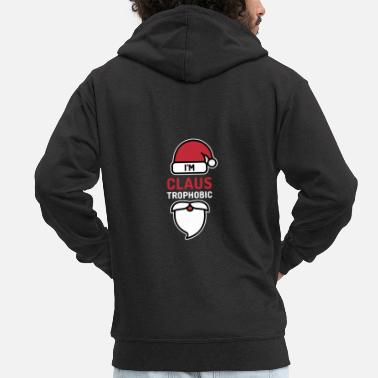 Jesus Christmas. XMas. Wine. Santa Clause. Elves. - Men's Premium Zip Hoodie