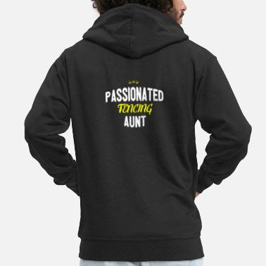 Distressed - PASSIONATED FENCING AUNT - Men's Premium Zip Hoodie